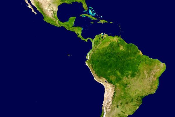 americas satellite map