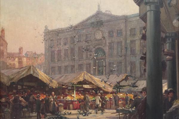 nottingham old market place c 1920 by arthur spooner